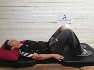 Adductor Squeeze Exercise.